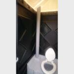 Туалетная кабина черная биотуалет эконом 031