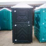 Туалетная кабина черная биотуалет эконом 033