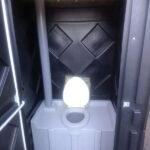 Туалетная кабина черная биотуалет эконом 034