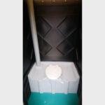 Туалетная кабина черная биотуалет эконом 035