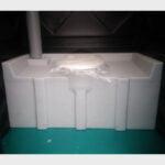 Туалетная кабина черная биотуалет эконом 037