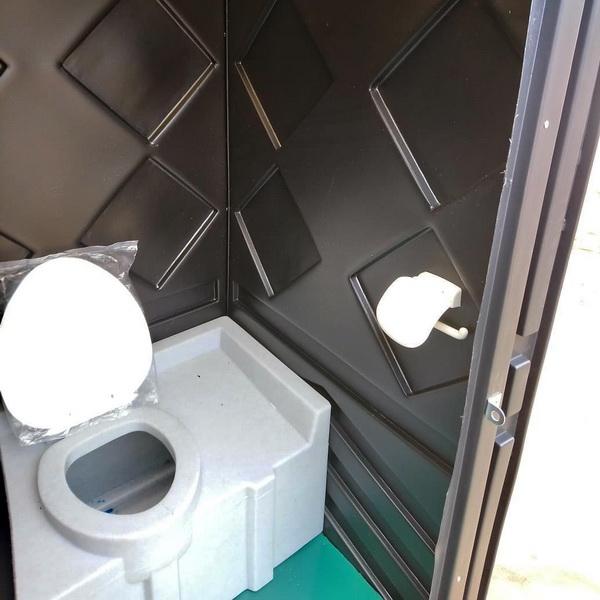Туалетная кабина черная биотуалет эконом 041