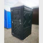 Туалетная кабина черная биотуалет эконом 042
