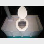 Туалетная кабина черная биотуалет эконом 045