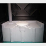 Туалетная кабина черная биотуалет эконом 047