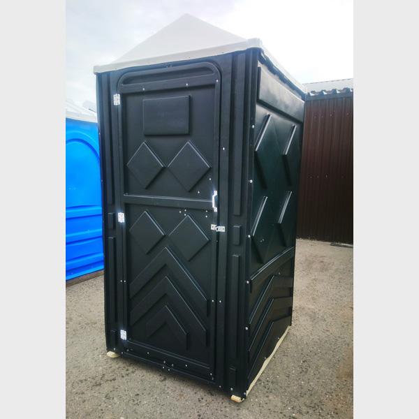 Туалетная кабина черная биотуалет эконом 049