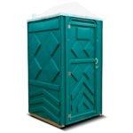 Готовый туалет для дачи Эконом зеленая 1