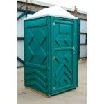 Готовый туалет для дачи Эконом зеленая 2
