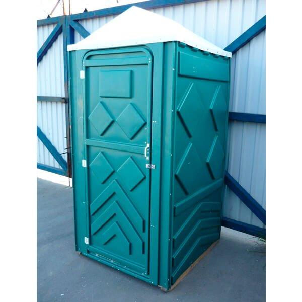 Готовый туалет для дачи Эконом зеленая 3