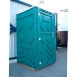Готовый туалет для дачи Эконом зеленая 4