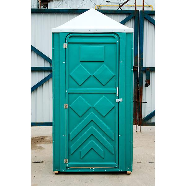 Готовый туалет для дачи Эконом зеленая 5