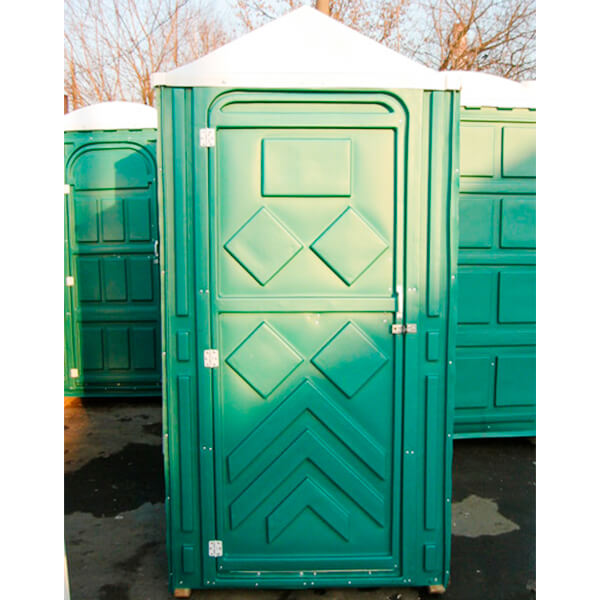 Готовый туалет для дачи Эконом зеленая 7