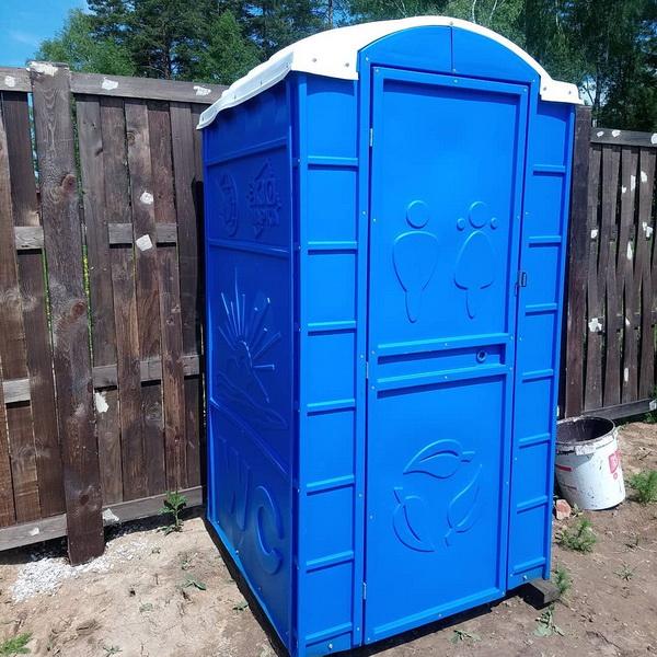 Туалетная кабина круглая крыша 001