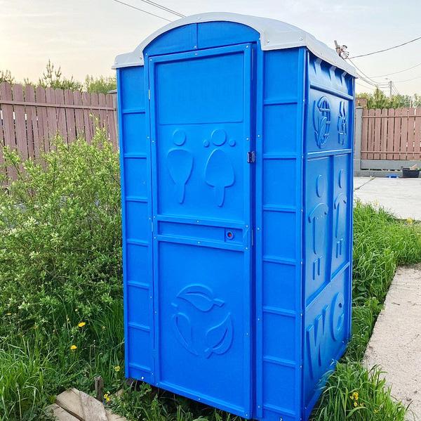 Туалетная кабина круглая крыша 002