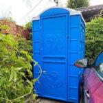 Туалетная кабина круглая крыша 003