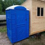 Туалетная кабина круглая крыша 004