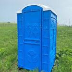 Туалетная кабина круглая крыша 005