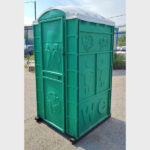 Туалетная кабина круглая крыша 006