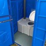 Туалетная кабина круглая крыша 008