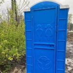 Туалетная кабина круглая крыша 009