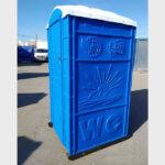 Туалетная кабина круглая крыша 010