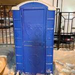 Туалетная кабина круглая крыша 011