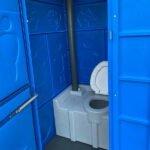 Туалетная кабина круглая крыша 012