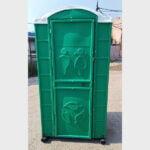 Туалетная кабина круглая крыша 013