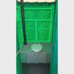 Туалетная кабина круглая крыша 014