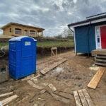Туалетная кабина круглая крыша 015