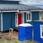 Туалетная кабина круглая крыша 016