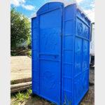 Туалетная кабина круглая крыша 017