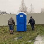 Туалетная кабина круглая крыша 018