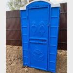 Туалетная кабина круглая крыша 021
