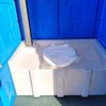 Туалетная кабина круглая крыша 022