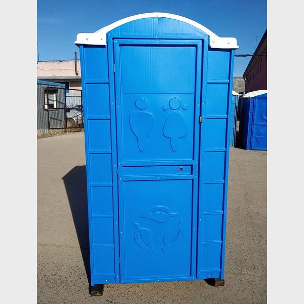 Туалетная кабина круглая крыша 025