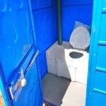 Туалетная кабина круглая крыша 026