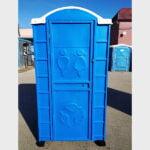 Туалетная кабина круглая крыша 029