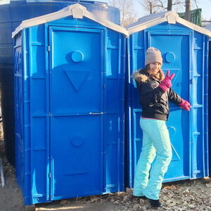 Туалетная кабина биотуалет недорогой 001