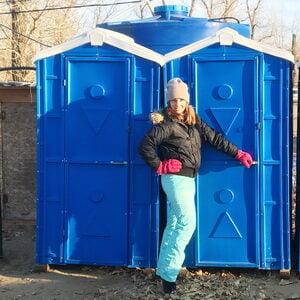 Туалетная кабина биотуалет недорогой 002