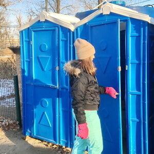 Туалетная кабина биотуалет недорогой 003