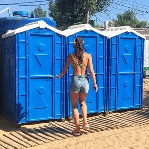 Туалетная кабина биотуалет недорогой 004