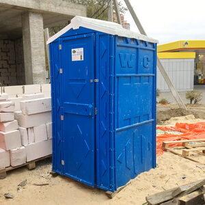 Туалетная кабина на стройку 001
