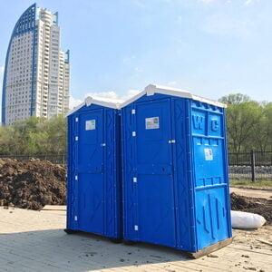 Туалетная кабина на стройку 005