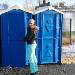 Туалетная кабина на стройку 014