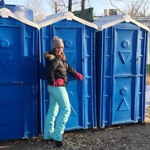 Туалетная кабина на стройку 015