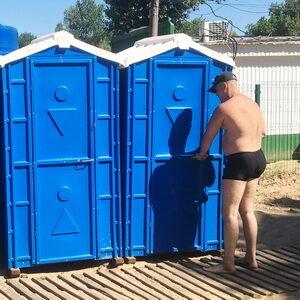 Туалетная кабина на стройку 016