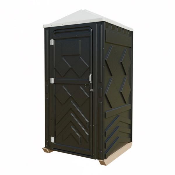 Туалетная кабина черная 001