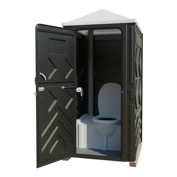 Туалетная кабина черная 003
