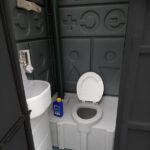 Туалетная кабина черная биотуалет эконом 048-2
